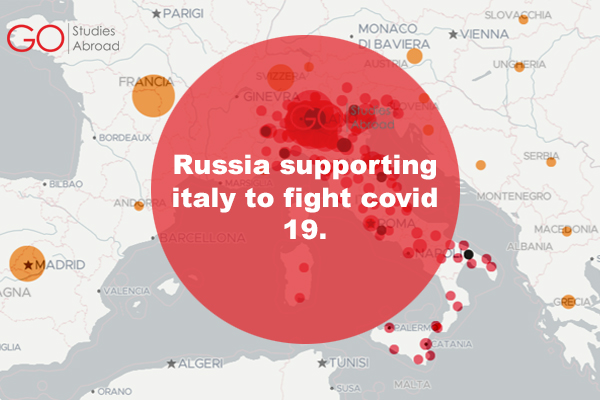 Russia supporting Italy to fight covid 19