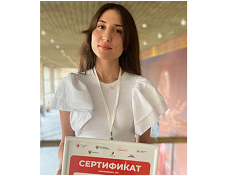 The fourth year student of Saratov State Medical University took part in the competition.